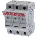 Държач за стопяем предпазител LV, 32 A, AC 690 V, 10 x 38 mm, 3P+N, UL, IEC, индикиращ, за монтаж на DIN шина