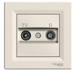 TV-R розеткa IEC мъжки + женски, междинна 8 dB, Крема
