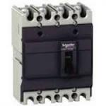 Автоматичен прекъсвач с лят корпус EasyPact, 36 kA, 250 A, 4P/3T, Термо-магнитна защита