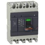 Автоматичен прекъсвач с лят корпус EasyPact, 36 kA, 250 A, 4P/4T, Термо-магнитна защита