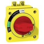 Директна въртяща ръкохватка, червена с жълт щит, за EZC250