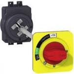 Удължена въртяща ръкохватка, червена с жълт щит, за EZC250