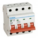 Миниатюрен автоматичен прекъсвач HiBD63h, 3P+N, B, 1A, 10kA