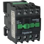 Контактор EasyPact TVS, 3P с (1 N/O) допълнителни контакти, 220V AC 50 Hz, 38A
