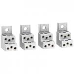 Алуминиеви накрайници за 6 кабела (комплект от 4 бр.)