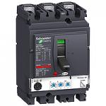 Автоматичен прекъсвач, лят корпус NSX100 Micrologic 2.2 (LSoI защита), 100 A, 3P/3d, F