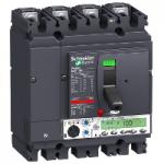 Автоматичен прекъсвач, лят корпус NSX100 Micrologic 5.2 A (LSI защита, амметър), 100 A, 4P, H