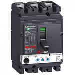 Автоматичен прекъсвач, лят корпус NSX100 Micrologic 2.2 M (LSoI защита за мотори), 25 A, 3P/3d, N