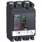Автоматичен прекъсвач, лят корпус NSX100 Термо-магнитна защита, 80 A, 3P/3d, N
