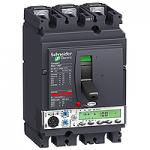 Автоматичен прекъсвач, лят корпус NSX100 Micrologic 5.2 A (LSI защита, амметър), 100 A, 3P/3d, N