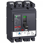 Автоматичен прекъсвач, лят корпус NSX160 Термо-магнитна защита, 100 A, 3P/3d, H