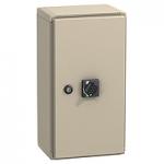 Метална кутия, IP55, за NSX100..160, с удължена въртяща ръкохватка (червено-жълта)