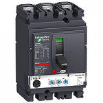 Автоматичен прекъсвач, лят корпус NSX250 Micrologic 2.2 (LSoI защита), 160 A, 3P/3d, N