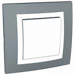 Сглобен бутон 10 A 250 V, Техническо сиво/Бял