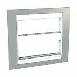 Рамка с централизираща функция Unica Plus IT 2 x 6 модула, Бял/Светло сив