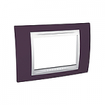 Тримодулна рамка италиански стандарт Unica Plus IT, Бял/Гранит