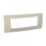 Шестмодулна рамка италиански стандарт Unica Plus IT, Слонова кост/Светло бежов