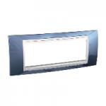Шестмодулна рамка италиански стандарт Unica Plus IT, Бял/Ледено син