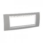 Шестмодулна рамка италиански стандарт Unica Plus IT, Бял/Светло сив