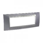 Шестмодулна рамка италиански стандарт Unica Top IT, Сив металик/Алуминий