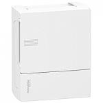 Mini Pragma табло за открит монтаж 1 x 6, с непрозрачна бяла врата