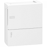 Mini Pragma табло за открит монтаж 1 x 8, с непрозрачна бяла врата