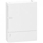 Mini Pragma табло за открит монтаж 2 x 12, с непрозрачна бяла врата
