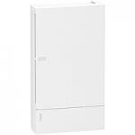 Mini Pragma табло за открит монтаж 3 x 12, с непрозрачна бяла врата