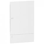 Mini Pragma вдадено табло за вграден монтаж 3 x 12, с Непрозрачна бяла врата