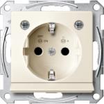 Контактен излаз Шуко със светлинен излаз  и LED осветителен модул, Бяло