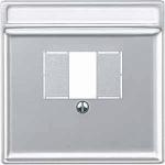 Капак за телефонна розетка с квадратен отвор, Алуминий