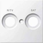 Капак обозначен с FM+TV за розетка на антена, Полярно бял