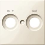 Капак обозначен с R/TV+SAT за розетка за антена, Бяло