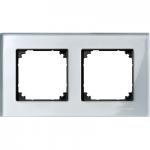 Рамка M-Elegance Glass, двумодулна, Диамант