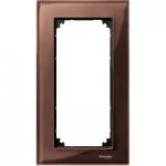 Рамка M-Elegance Glass, двумодулна, без разделител, Махагон