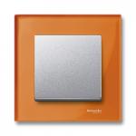 Рамка M-Elegance Glass, едномодулна, Оранж
