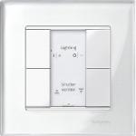 Рамка M-Elegance Glass, едномодулна, Блестящо бяло