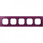 Рамка M-Elegance Glass, петмодулна, Рубин