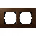 Рамка M-Elegance Wood, двумодулна, Орех
