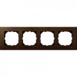 Рамка M-Elegance Wood, четиримодулна, Орех