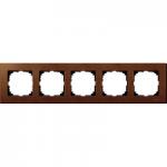 Рамка M-Elegance Wood, петмодулна, Череша
