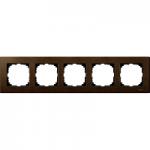 Рамка M-Elegance Wood, петмодулна, Орех