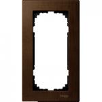 Рамка M-Elegance Wood, двумодулна, без централен разделител, Орех