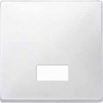 Капак за механизъм с правоъгълно индикаторно прозорче за символи, Полярно бял