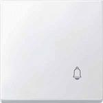"""Капак за механизъм със символ """"Звънец"""", Полярно бял"""