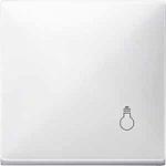 """Капак за механизъм със символ  """"Осветление"""", Полярно бял"""