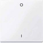 Капак за механизъм, с маркировка 0/1, Активно бяло