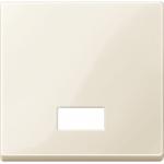 Капак за механизъм с правоъгълно индикаторно прозорче за символи, Бяло
