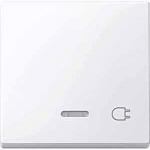 """Капак за механизъм с индикаторна лампа и символ """"Контактен излаз"""", Активно бяло"""