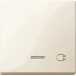 """Капак за механизъм с индикаторна лампа и символ """"Контактен излаз"""", Бяло"""